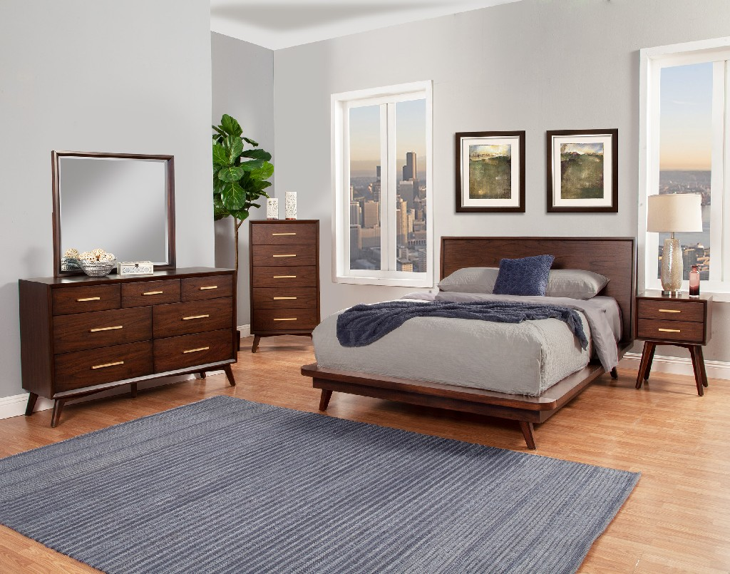 Alpine Furniture King Bed Photo