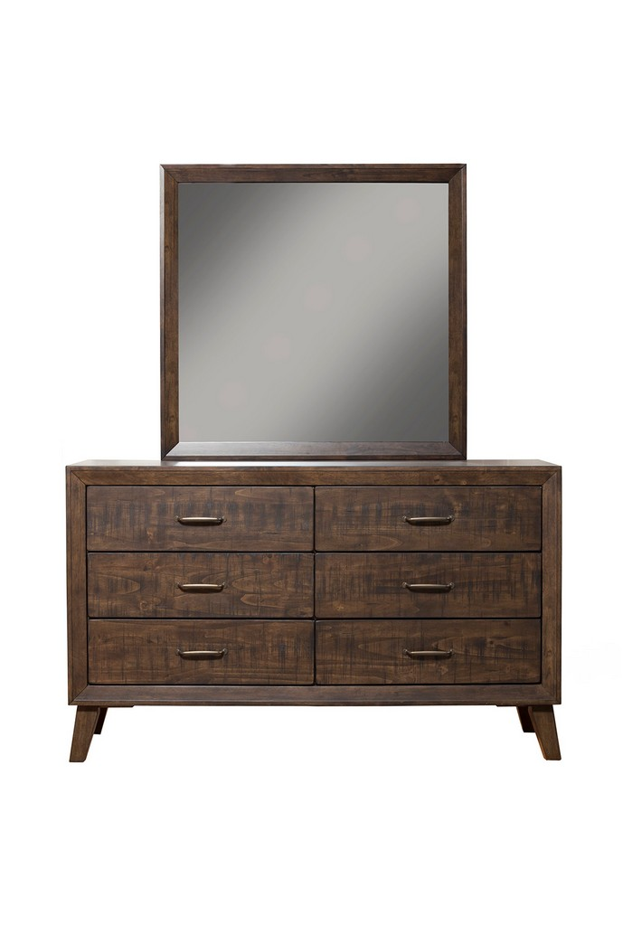Alcott Mirror In Tobacco - Alpine Furniture 5074-06
