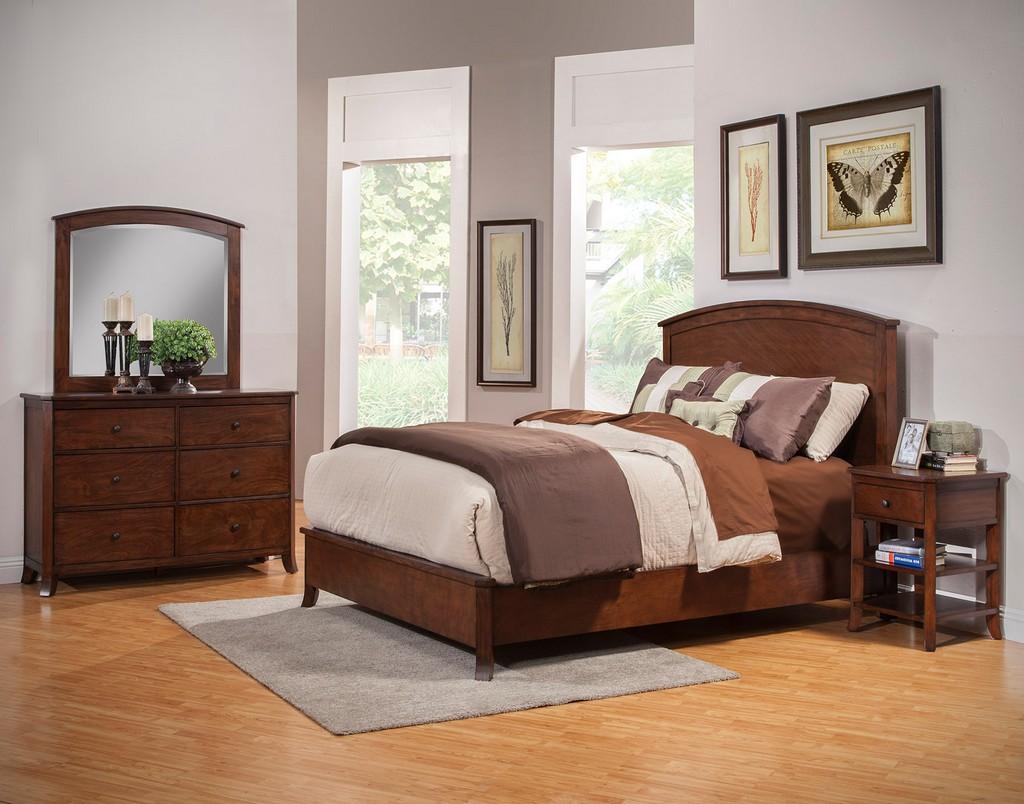 Baker Mirror in Mahogany - Alpine Furniture 977-06