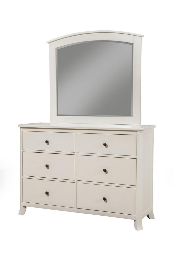 Baker Mirror In White - Alpine Furniture 977-W-06