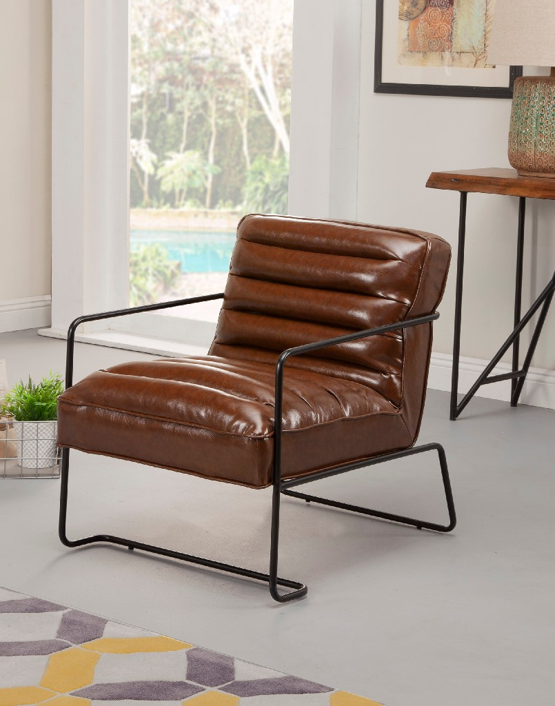 Charles Accent Chairs in Brown - Alpine Furniture LW-9115
