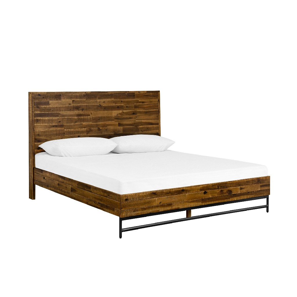 Rustic Platform Queen Bed