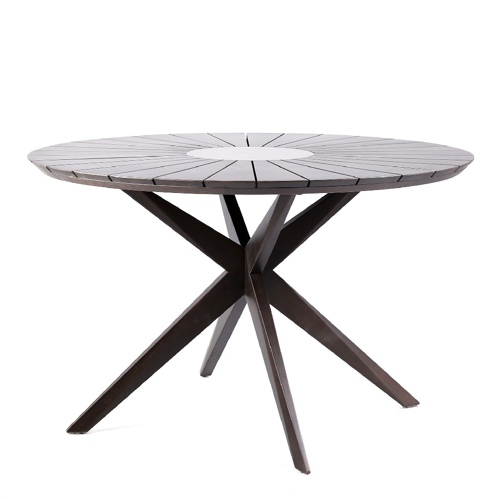 Patio Wood Round Dining Table Super Center Earth