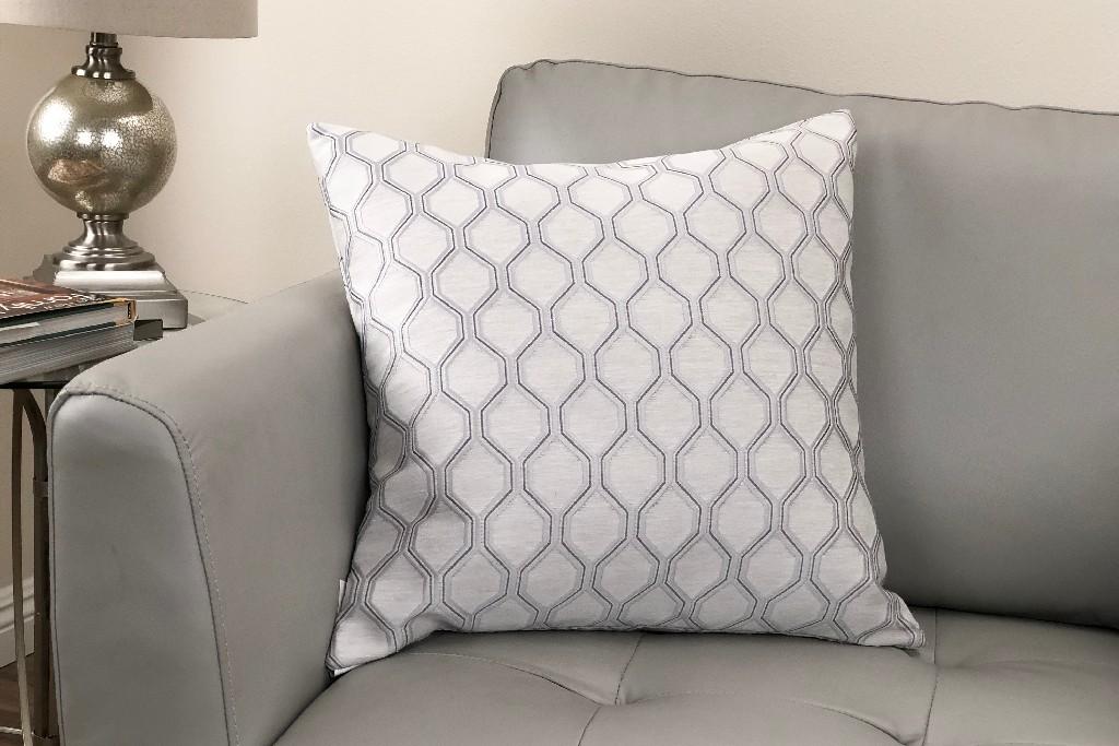 Contemporary | Decorative | Platinum | Pillow | Fabric | Live