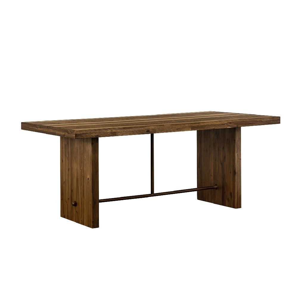 Armen Living Rustic Oak Dining Table