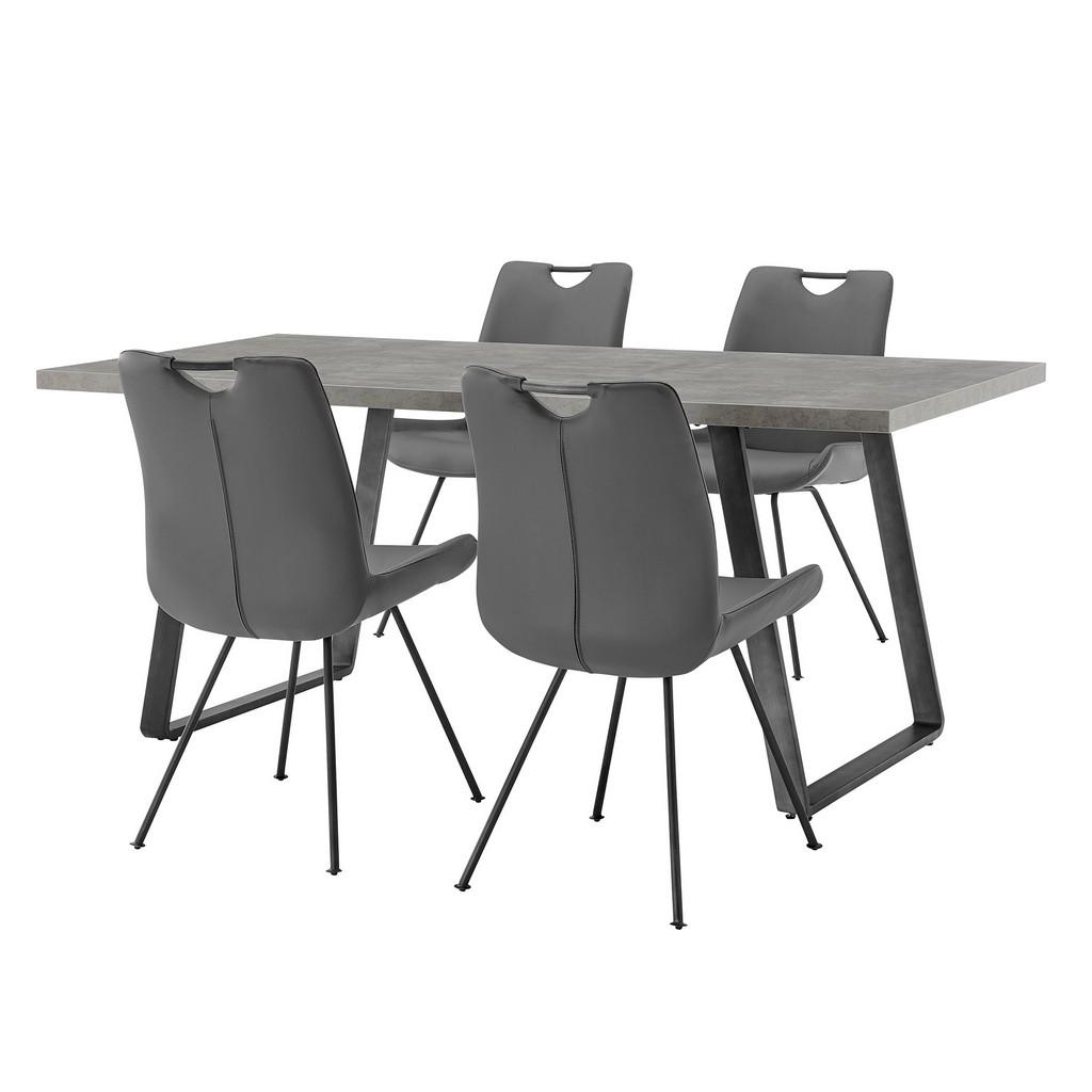 Armen Living Furniture Coronado Grey Rectangular Dining Set
