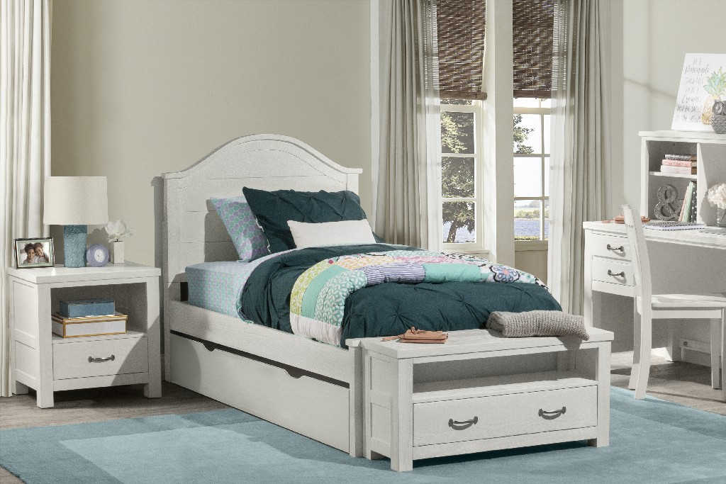 Hillsdale Twin Arch Bed Trundle White Wood