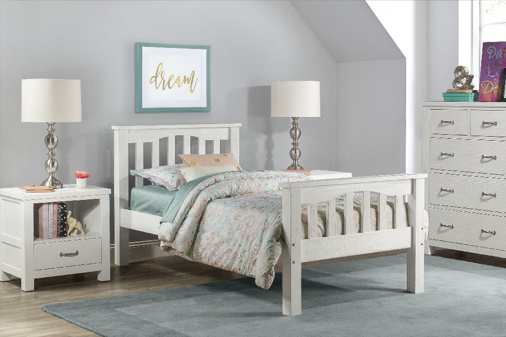 Hillsdale Twin Bed White Wood