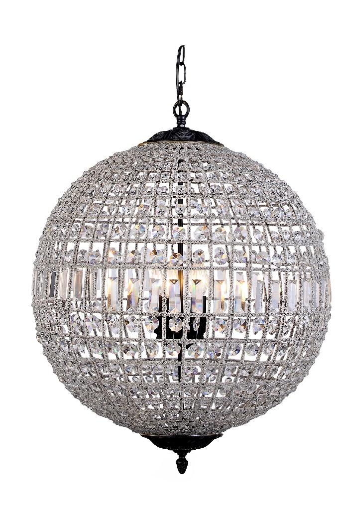 Elegant Lighting Olivia Light Dark Bronze Chandelier Clear Royal Cut Crystal