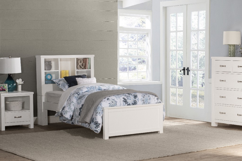 Hillsdale Bookcase Twin Bed White Wood