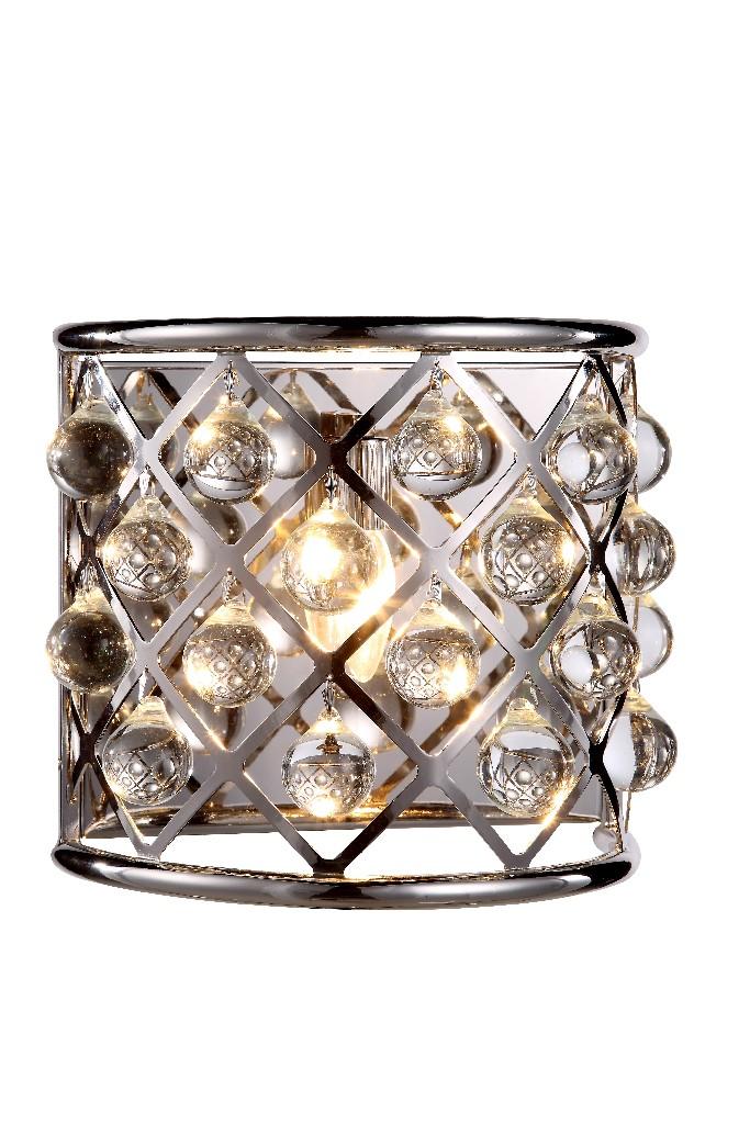 Elegant | Crystal | Nickel | Polish | Sconce | Clear | Royal | Light | Wall | Cut