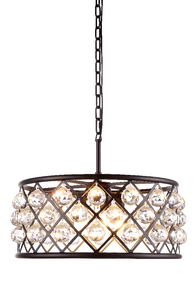 Elegant Lighting Light Matte Black Chandelier Clear Cut