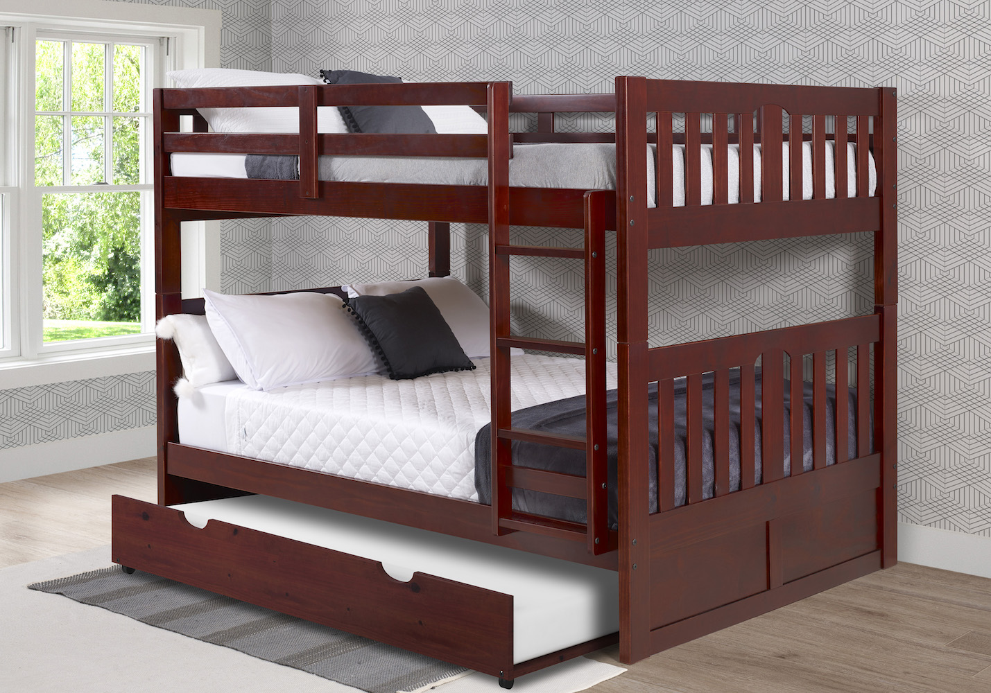 Donco Kids Furniture Bunkbed Twin Trundle Photo
