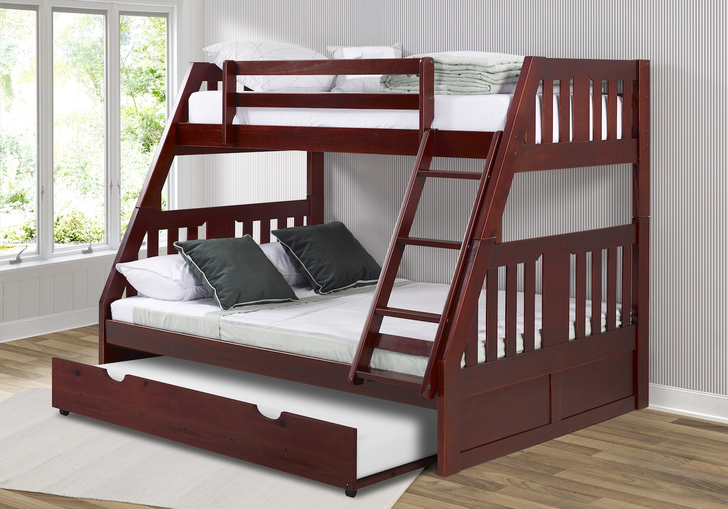Donco Kids Furniture Twin Bunkbed Twin Trundle Photo