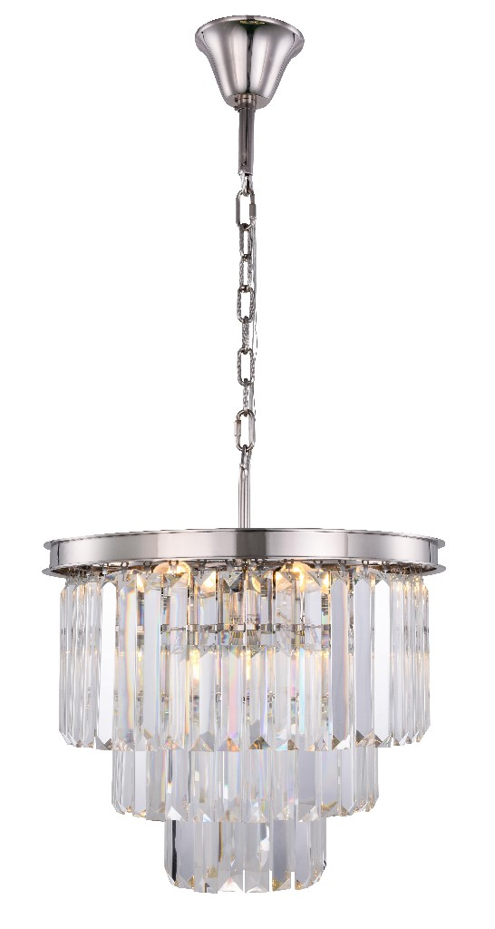 Elegant Lighting Light Polished Nickel Chandelier Clear Royal Cut Crystal