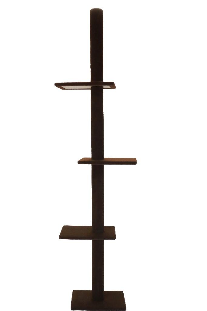 Cat Craft 3 Tier Floor-to-Ceiling Cat Tree Dark Chocolate - 12400301DCCOM