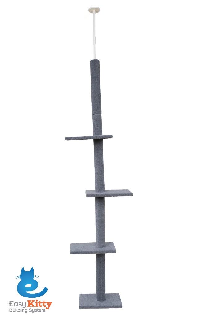 Cat Craft 3 Tier Floor-to-Ceiling Cat Tree Grey - 12400301GRCOM