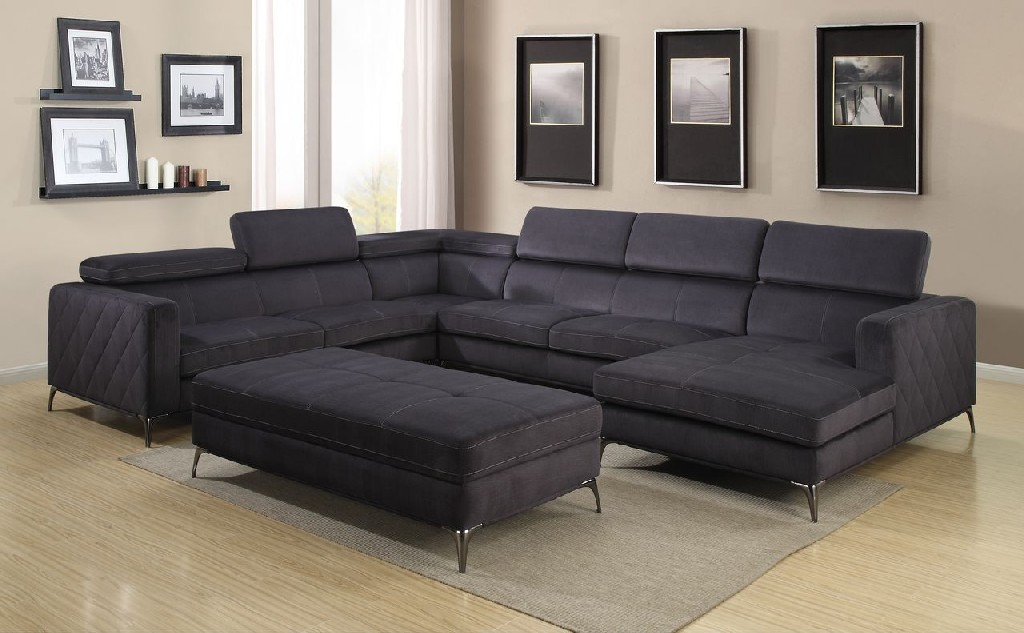 Myco Gatsby Sectional Charcoal Gray