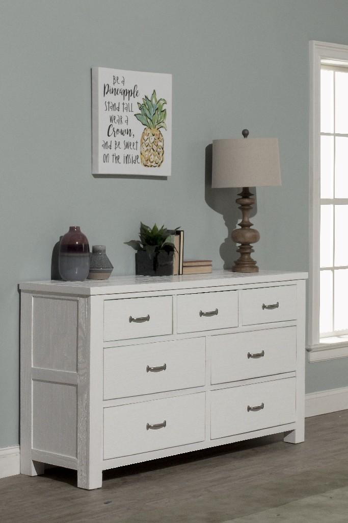 Hillsdale Drawer Dresser White Wood