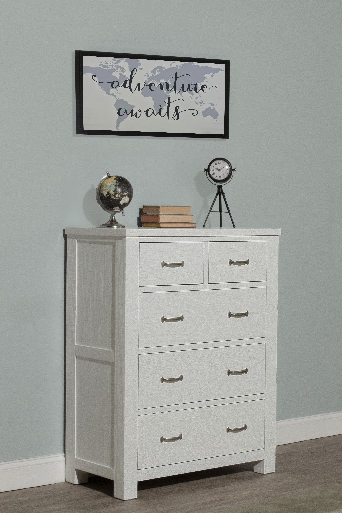 Hillsdale Drawer Chest White Wood