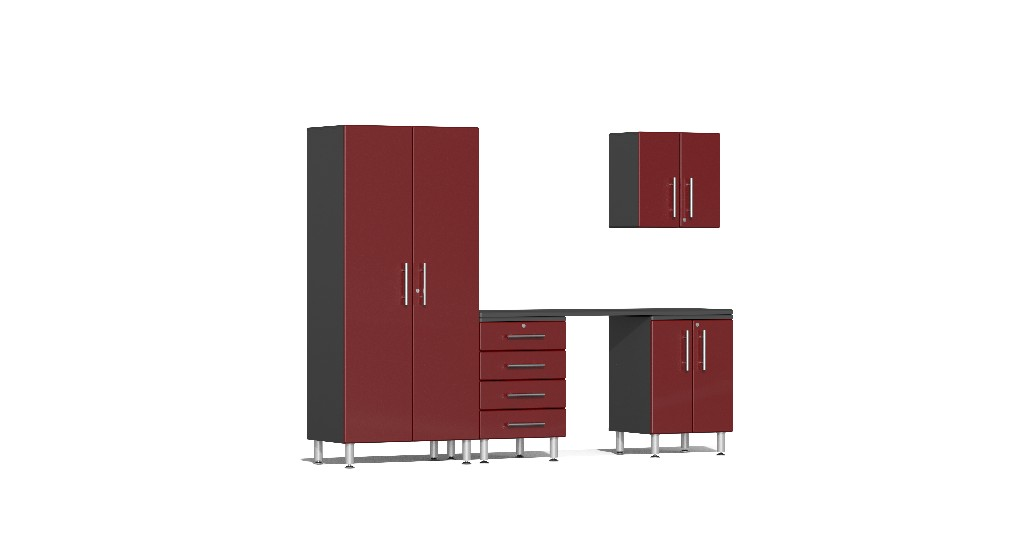 Ulti Mate Garage Kit Workstation Red Metallic Ug R