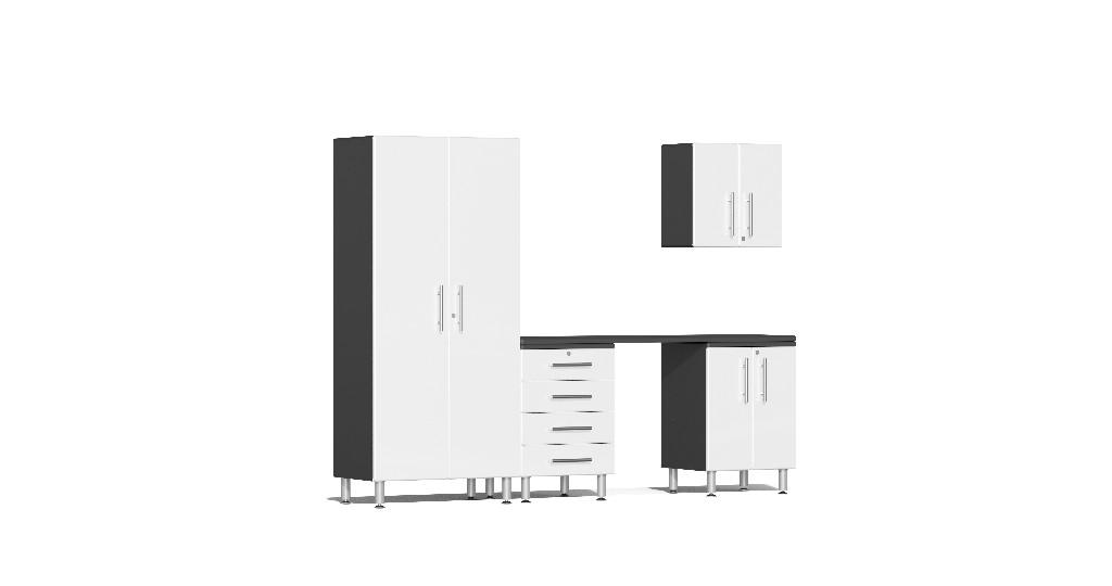 Garage Kit Workstation White Metallic