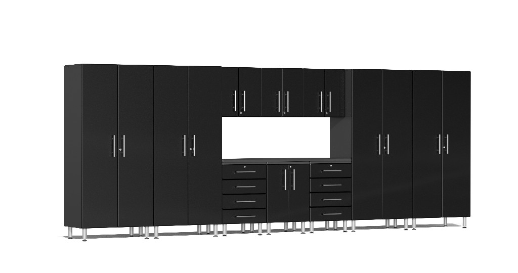Ulti-MATE Garage 2.0 Series 11-Piece Kit with Workstation in Black Metallic UG22111B