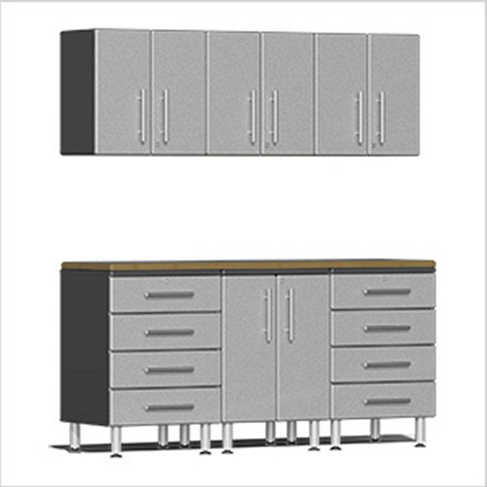 Garage Workstation Kit Silver Metallic