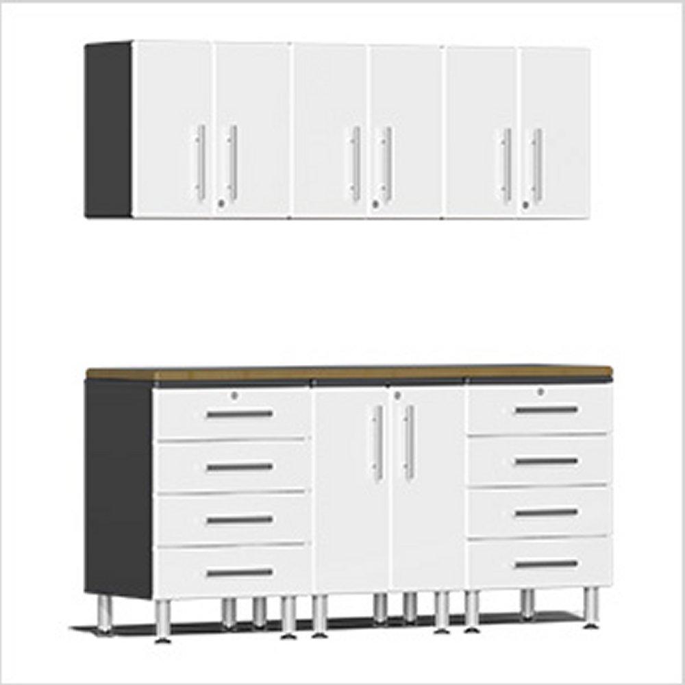 Ulti Mate Garage Workstation Kit White Metallic Ug W