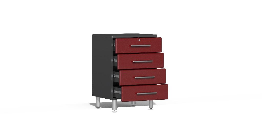 Ulti Mate Garage Dual Workstation Kit Red Metallic Ug R