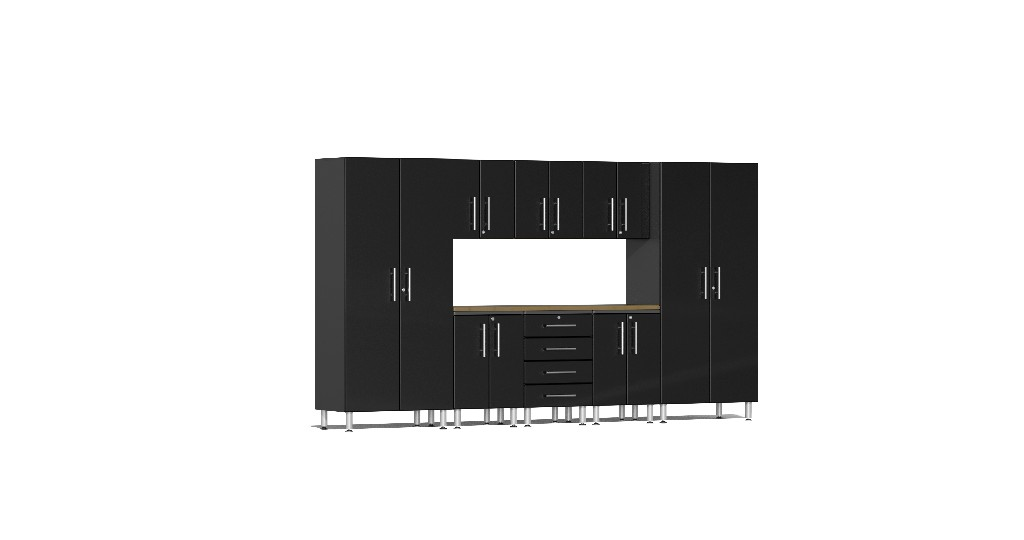 Ulti Mate Garage Kit Worktop Black Metallic Ug B