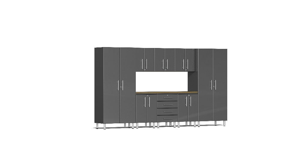 Ulti Mate Garage Kit Worktop Grey Metallic Ug G