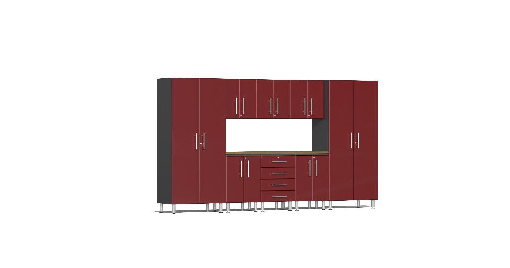 Ulti Mate Garage Kit Worktop Red Metallic Ug R