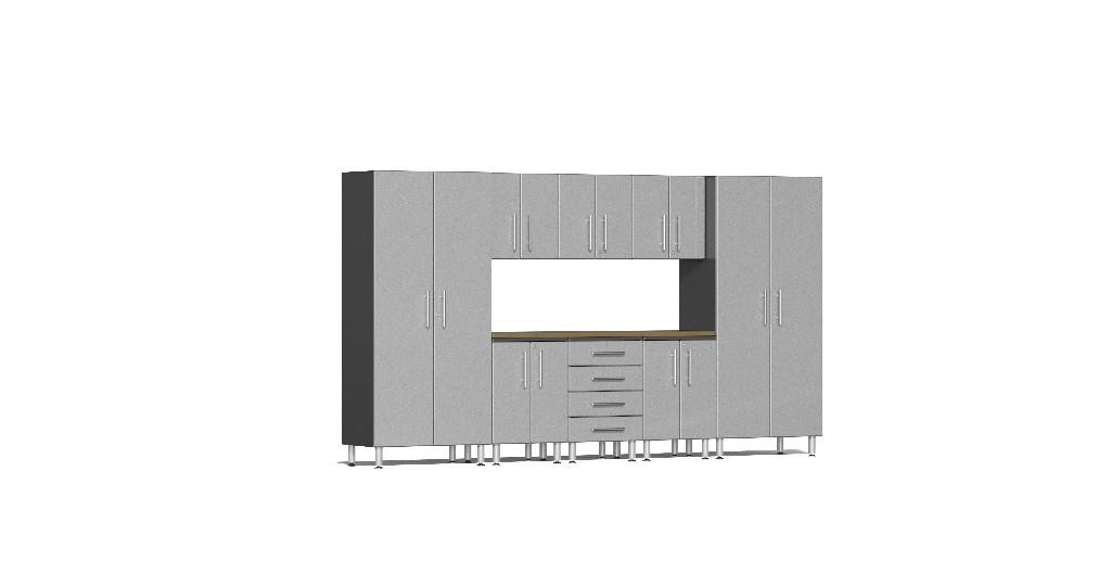 Ulti Mate Garage Kit Worktop Silver Metallic Ug S