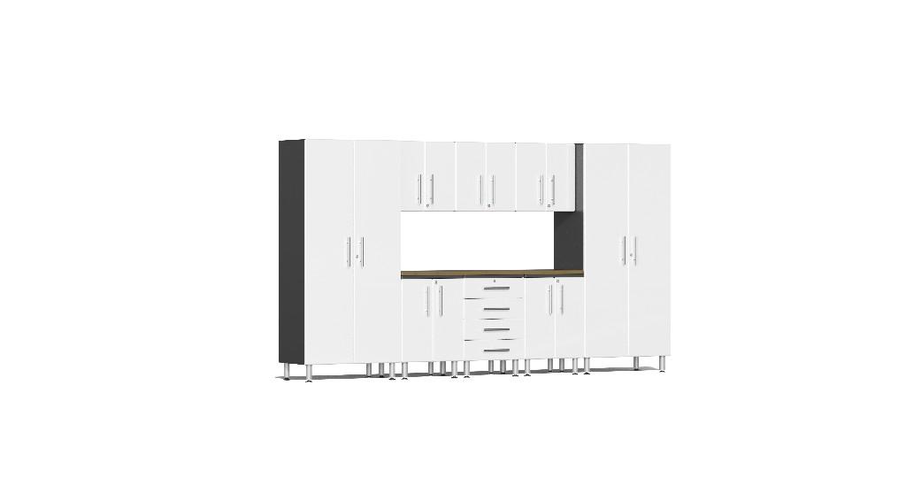 Ulti Mate Garage Kit Worktop White Metallic Ug W