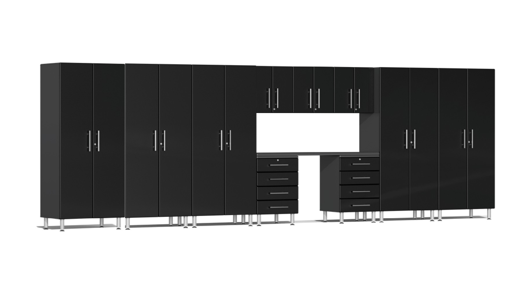 Ulti-MATE Garage 2.0 Series 11-Piece Kit with Workstation in Black Metallic UG23111B