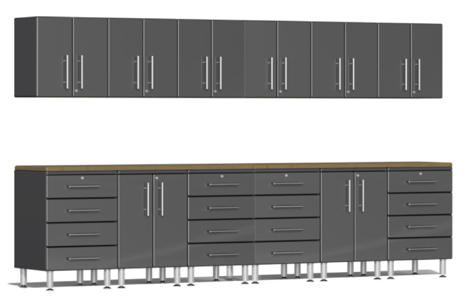 Ulti-MATE Garage 2.0 Series 14-Piece Set in Grey Metallic UG23142G
