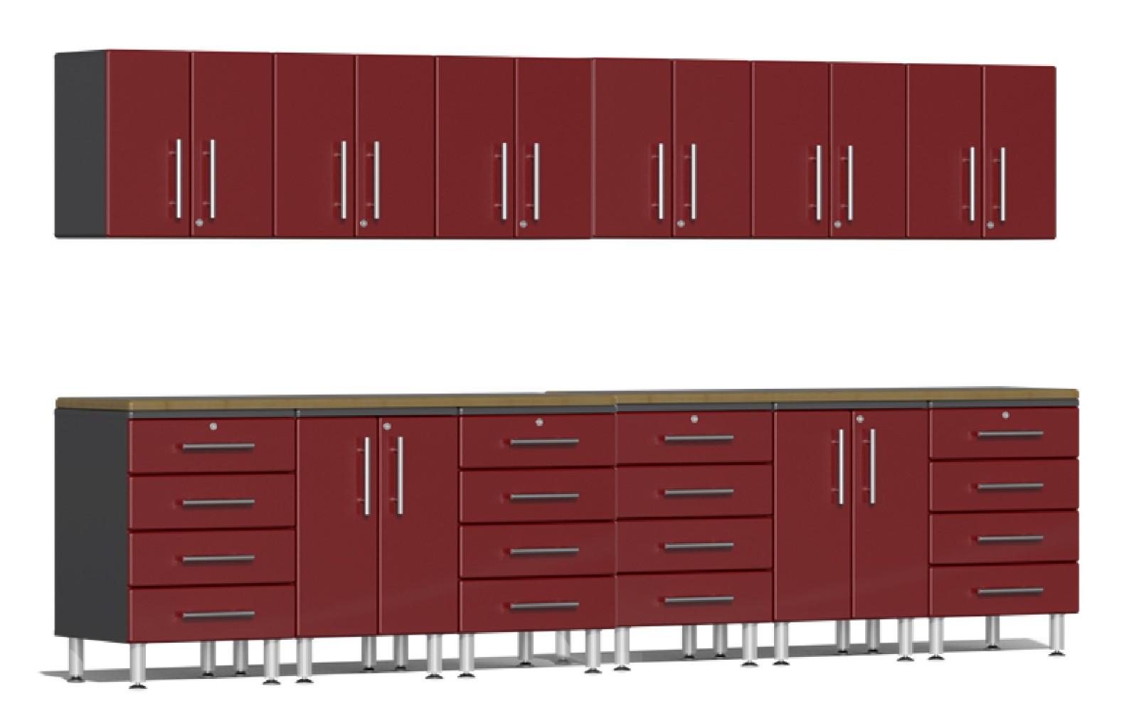Ulti-MATE Garage 2.0 Series 14-Piece Set in Red Metallic UG23142R