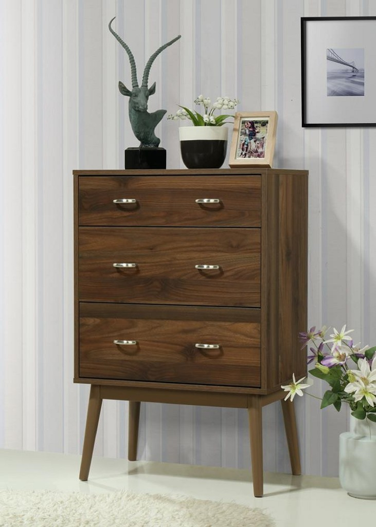 Montage Midcentury 3 Drawer Chest - 4D Concepts 151003