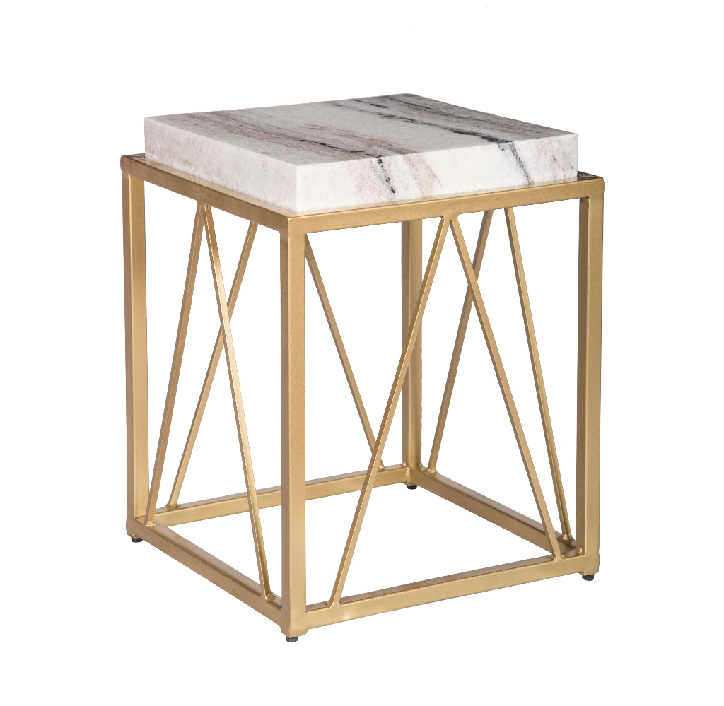Accent Table in White and Gold - Coast to Coast 15242