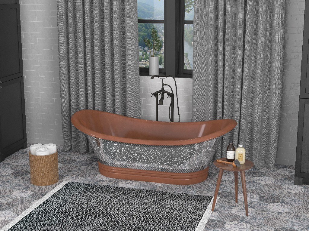 Anzzi Banten Handmade Double Slipper Whirlpool Bathtub