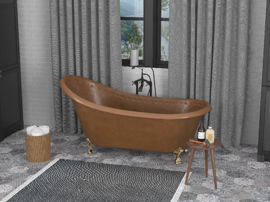 Handmade Slipper Whirlpool Bathtub