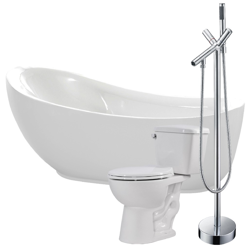 Anzzi Soaking Bathtub Faucet Cavalier Toilet
