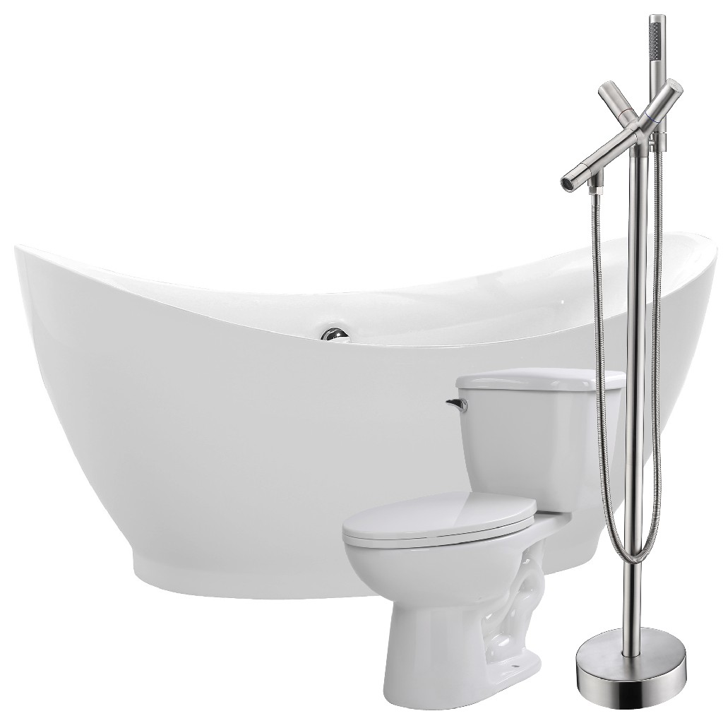 Anzzi Bathtub Havasu Faucet Kame Toilet