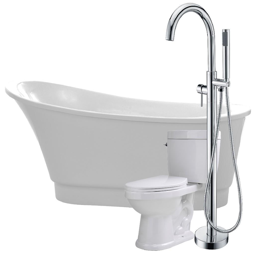 Anzzi Bathtub Kros Faucet Talos Toilet