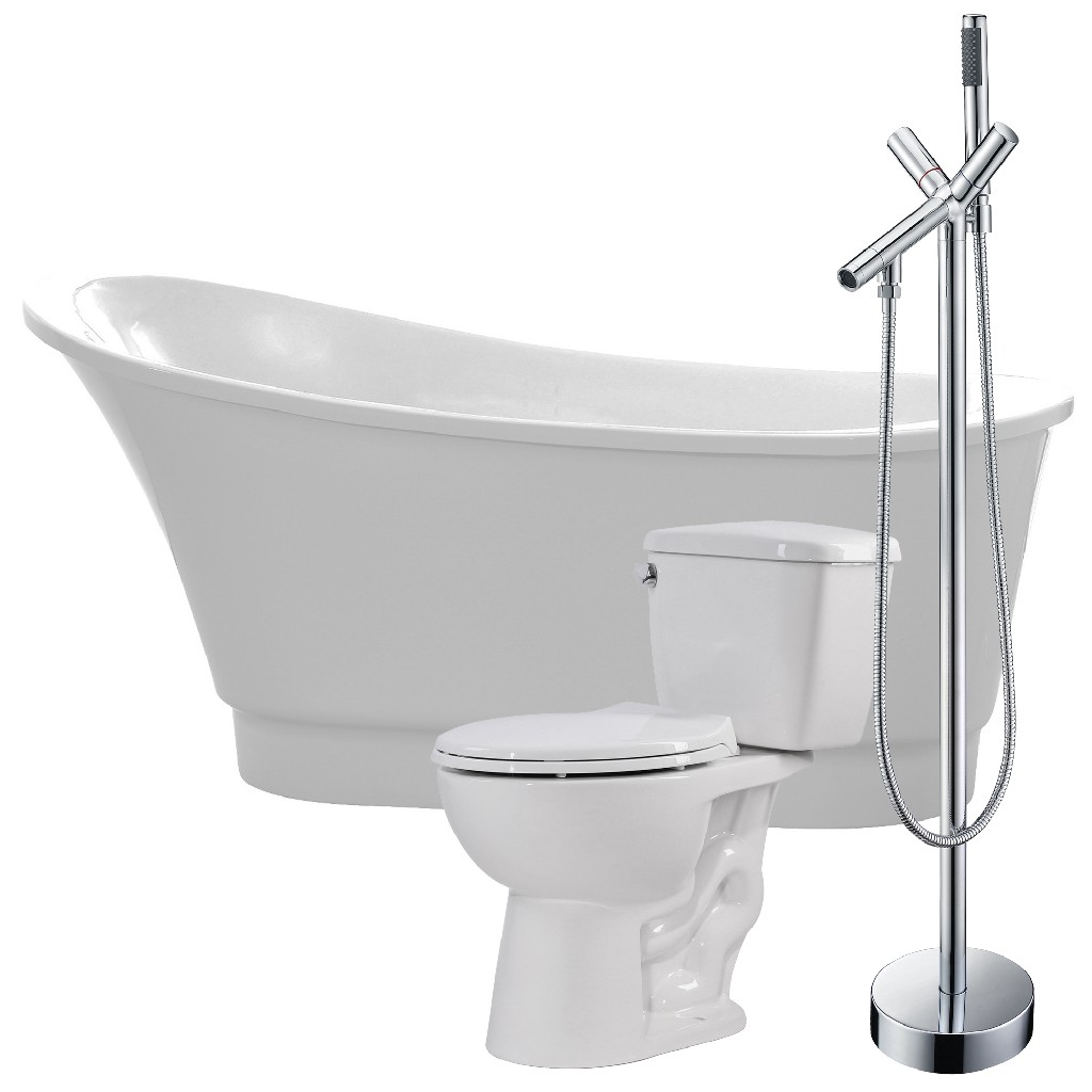 Click here for Anzzi Soaking Bathtub Faucet Cavalier Toilet