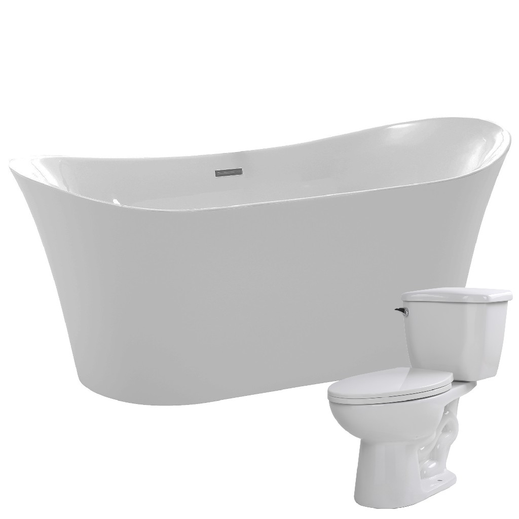 Click here for Anzzi Bathtub Kame Single Flush Toilet