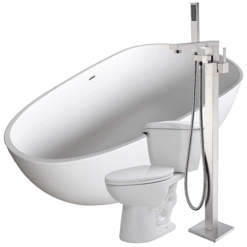 Soaking Bathtub Khone Faucet Kame Toilet
