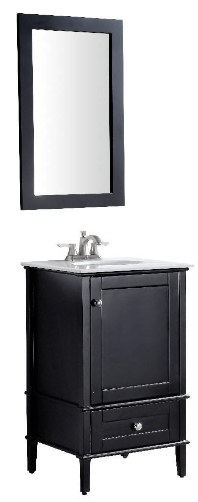 Alexander 21 in. W x 34.4 in. H Bathroom Vanity Set in Rich Black - ANZZI V-AXG022-21