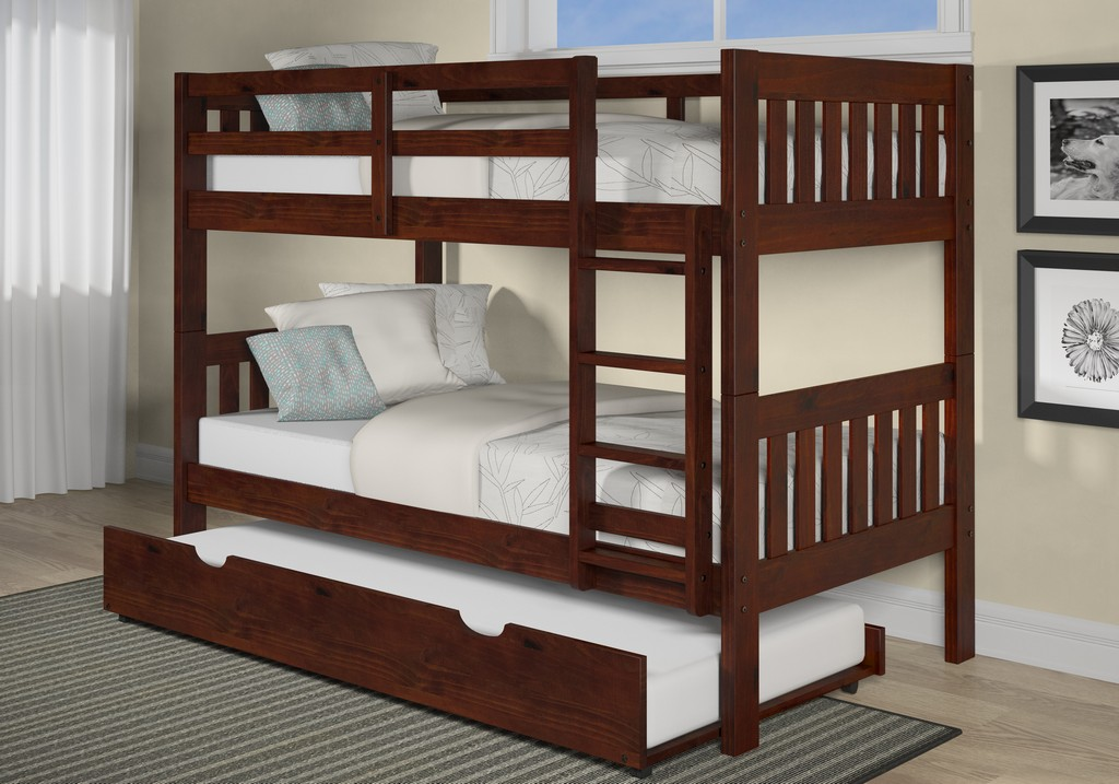 Chelsea Masion Twin Twin Mission Bunk Bed Trundle Unit Hillsdale
